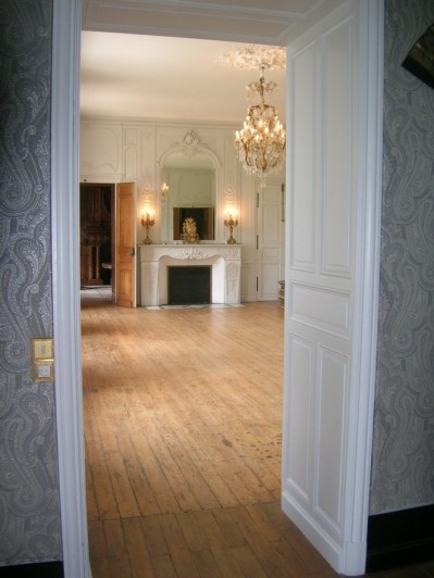 Château de Kergurione : enfilade des 3 salles de réception.