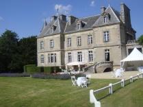 Château de Kergurione : Vue du parc