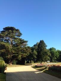 Château de Kergurione : Vue sur le parc